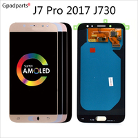 ORiginal 5.5 OLED TFT LCD For Samsung Galaxy J7 Pro 2017 Lcd J730 J730F Display touch screen Digitizer assembly