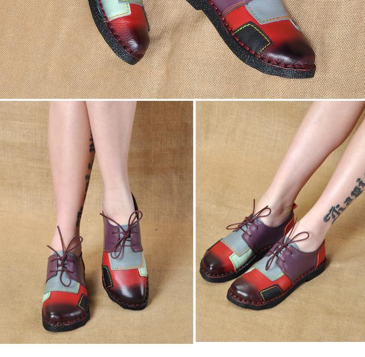 HTB1jZgKRpXXXXazXXXXq6xXFXXXt - Women's Handmade Genuine Leather Flat Lace Shoes-Women's Handmade Genuine Leather Flat Lace Shoes