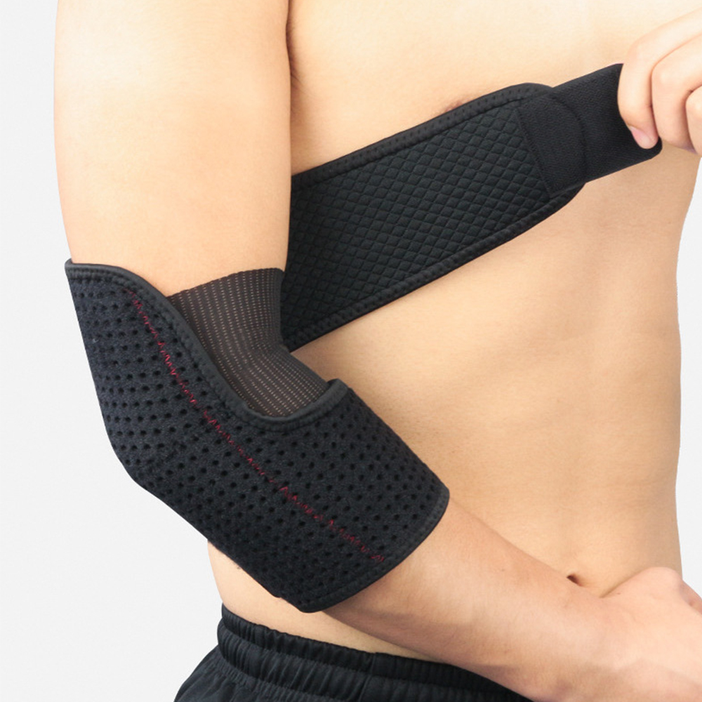 1PCS Sports Elbow Bandage Breathable Elbow Pads Basketball Volleyball Gym Adjustable Sports Safety Arm Sleeve Pads