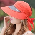 Outdoor Female Sunscreen Face UV Protection Sun Cap Women Windproof Cycling Hat Large Brim Visors