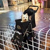 Открытый путешествия малых и средних животное коляска кошка собака четырехколесный корзина складная кошек и собак общий домашних животных