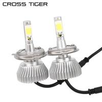 CROSS TIGER C6 Car LED Headlight 6000LM Pair 6000K Lamp Auto Bulb Lights H1 H3 880