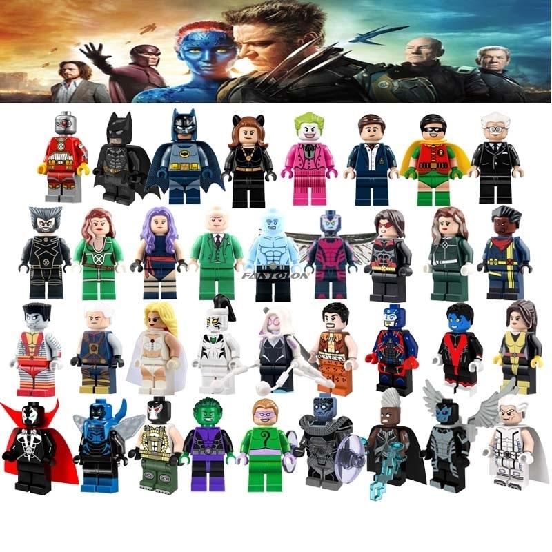 Galleria fotografica Singola Vendita Super Heroes Dick Grayson Robin Il Professor X <font><b>Legoingly</b></font> X Uomo Colossus Joker Bane Pinguino Building Block Giocattoli Per del capretto