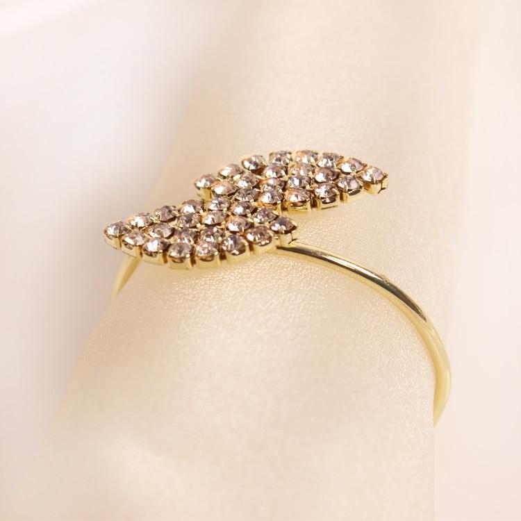 12pcs / lot Kristalni dijamanti prsten za salvete / omotati držač - Kuhinja, blagovaonica i bar