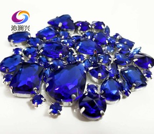Image 4 - Sell at a loss!! 68pcs/pack Royalbblue mix size high quality glass crystal material sew on rhinestones,diy/Clothing accessorie