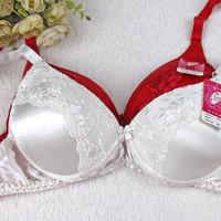 Mulberry Silk Lace Decoration Silk Bra Double Faced Silk Lace Bra A Cup
