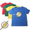 2016 Marca la Camiseta Captain America Niños de Los Niños Del Bebé Camisetas de Algodón flash Tops Bebé Camiseta Niños Camisetas Para Niños Ropa