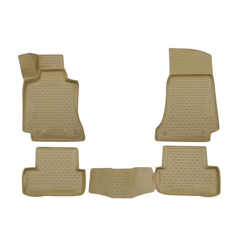 цена на Car Mats 3D salon For MERCEDES-BENZ С-Class W205, 2014-> 4 PCs (polyurethane, beige)