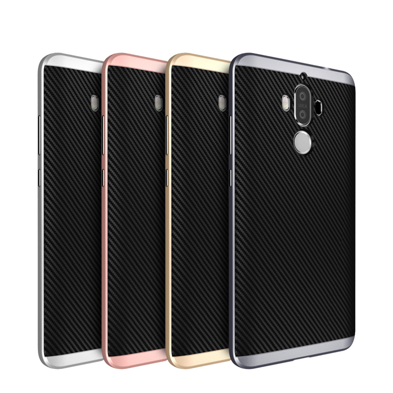 For <font><b>HUAWEI</b></font> MATE 9 <font><b>case</b></font> silicone TPU material back cover + PC frame Slim Armor Cover <font><b>case</b></font> for <font><b>HUAWEI</b></font> MATE 9 MATE9 <font><b>phone</b></font> <font><b>case</b></font>