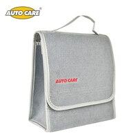 Auto Care Small Car Smart Tool Organizer Bag Grey Car Trunk Organiser Built In Strong Velcrofix