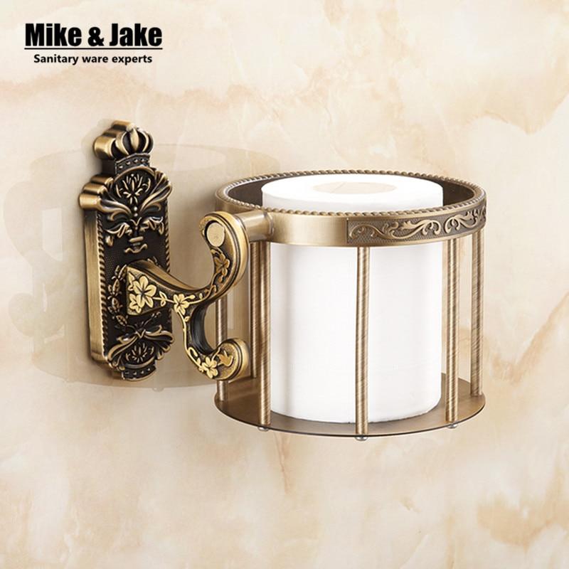Brass antique brass paper towel rack europe style showroom shelf paper holder European toilet paper box