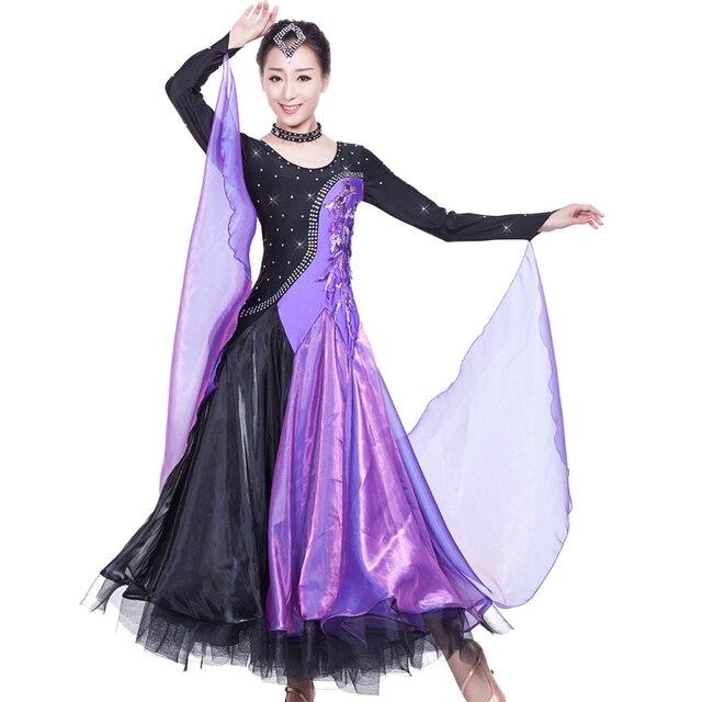 1db80856 US $93.59 48% OFF|Multicolor Sukienka Tańca Towarzyskiego Nowoczesne Waltz  Tango Taniec Sukienka Sukienka Foxtrot Standardowe Sukienki dla Tańca ...