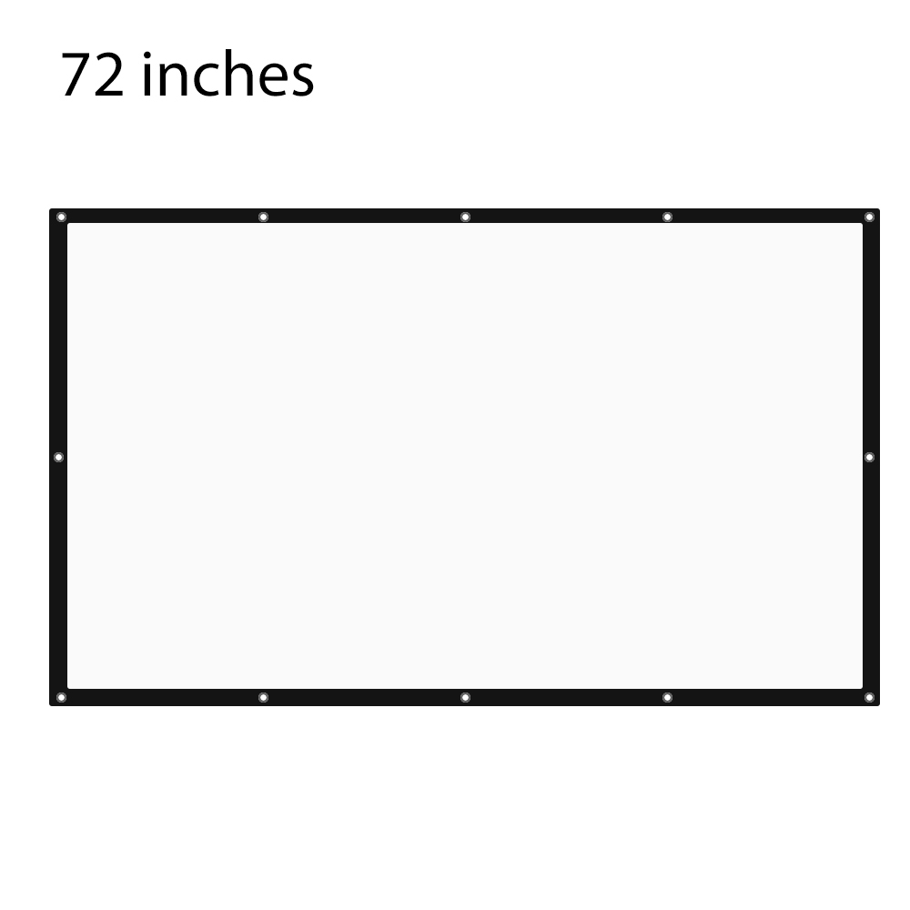72 inch 16:9 Foldable Portable Synthetic Fiber Tabletop Projector Screen Travel Friendly for Home Theater Meetings Exhibitions