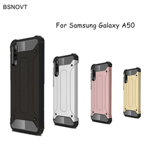 For Samsung Galaxy A50 Case Cover Anti-knock Soft Silicone+Hard Plastic Capa SM-A505F Funda
