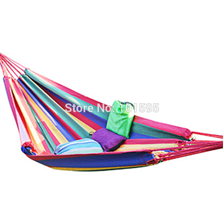 Double Hammock Outdoor/Indoor Colorful Camping Survival ...