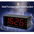 """LEADSTAR MX-20 Bluetooth Speaker Portable Wireless clear 5.5"""" LCD Luminous LED Alarm Clock with battery Amplifier FM For Phone"""