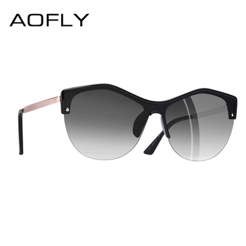 AOFLY BRAND DESIGN Women Cat eye Sunglasses 2018 Female Retro Style Shades UV400 Oculos de sol Feminino A113