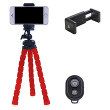 Flexible Digital Camera Tripod Holder Universal Mount Bracket + Bluetooth remote + Stand Support For Cell Phone Accessories k5(China)