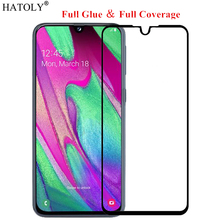 For Samsung Galaxy A40 Glass Tempered for Film 9H Full Glue Cover Screen Protector