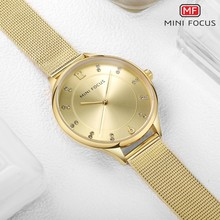 MINIFOCUS Women Watches Gold Womens Brand Luxury Fashion Ladies Watch For Woman Stylish Casual Wristwatch Montre Femme