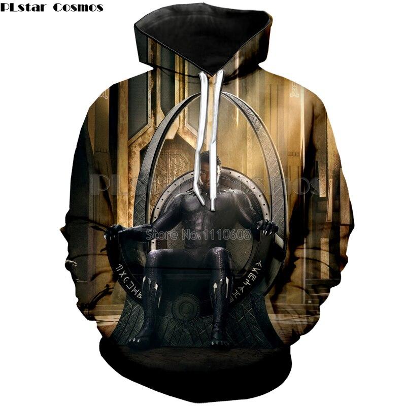PLstar Cosmos Marvel hero Black Panther 3D printing fashion hoodie Hot Movie Men/Women Spring and Autumn Loose sweatshirt Tops