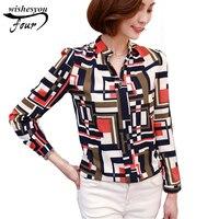 2017 Summer New Fashion Women S Brand Blouse Female Long Sleeve Blouse Women Shirt Chiffon Ruffle