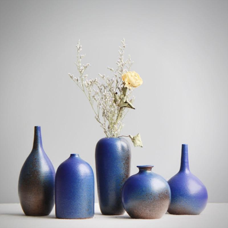 Handmade ceramic Small vase Clay pot flower Dried flowers ...