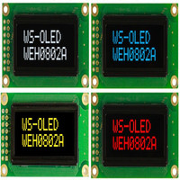WEH000802A Winstar Is 8x2 OLED Mini Display 1 2 Which Has The Same Outline Size RED
