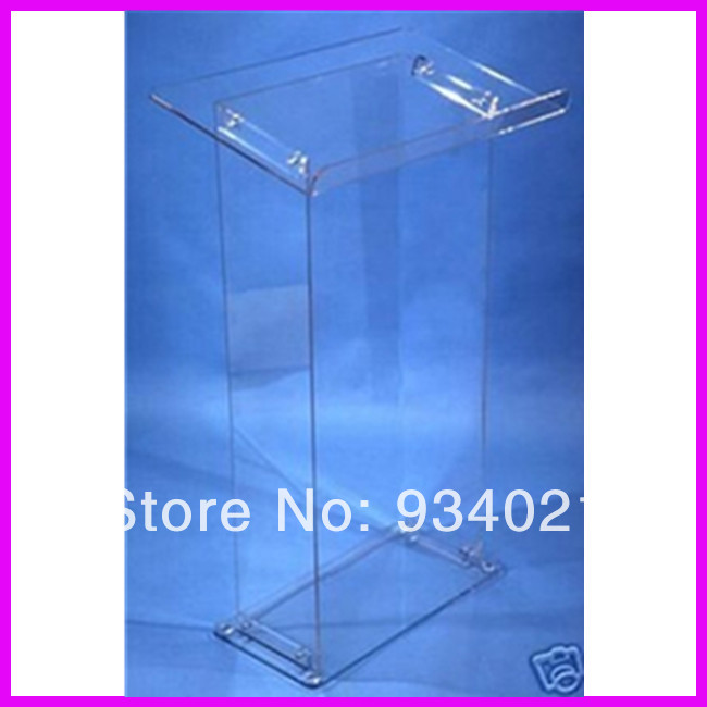 Detachable Clear Acrylic Lectern Acrylic Podium Stand Crystal Acrylic Pulpit Podium