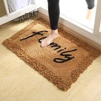 Cotton Chenille Letter Doormats for Room Non Slip Floor Mat and Rug Carpet