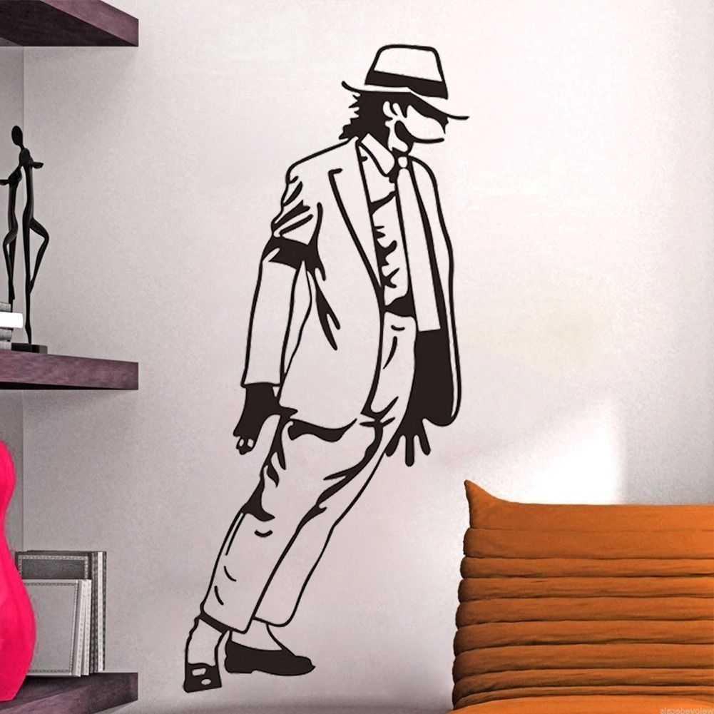 Diy removable michael jackson kids bedroom wall decals - Childrens bedroom wall stickers removable ...