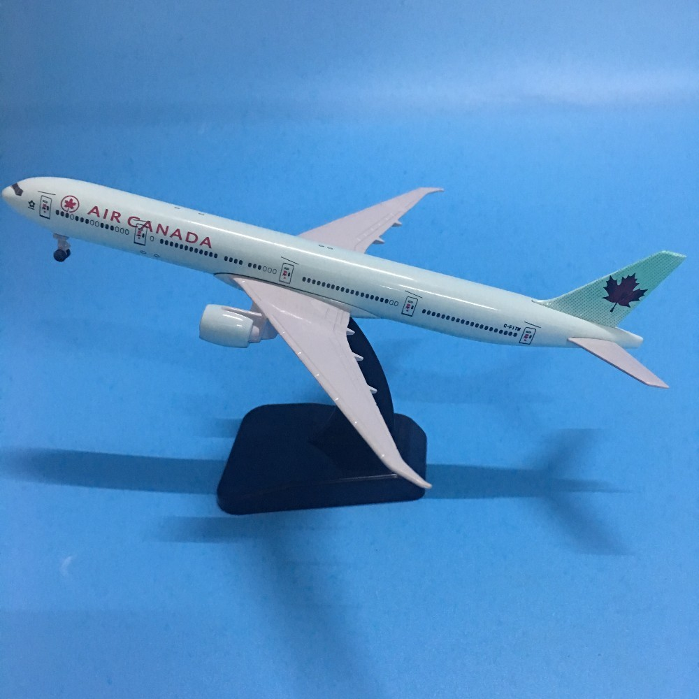 JASON TUTU 20cm Plane Model Airplane Model AIR CANAD Boeing 777 Aircraft Model 1:200 Diecast Metal Airplanes Plane Toy Gift image