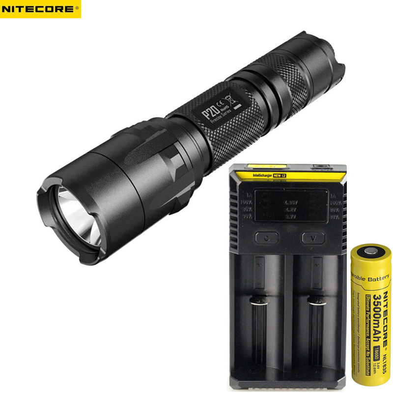 Outdoor Flashlight NITECORE P20 CREE XM-L2 (U2) LED max. 800LM beam distance 210 meter Dual-switch tail torch for outdoor sports 2017 new nitecore p12 tactical flashlight cree xm l2 u2 led 1000lm 18650 outdoor camping pocket edc portable torch free shipping