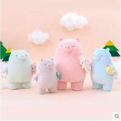 Бесплатная доставка 2019 Новое поступление милая кукла-подушка свинки, ленивая кукла, плюшевая игрушка кукла подарок на день рождения