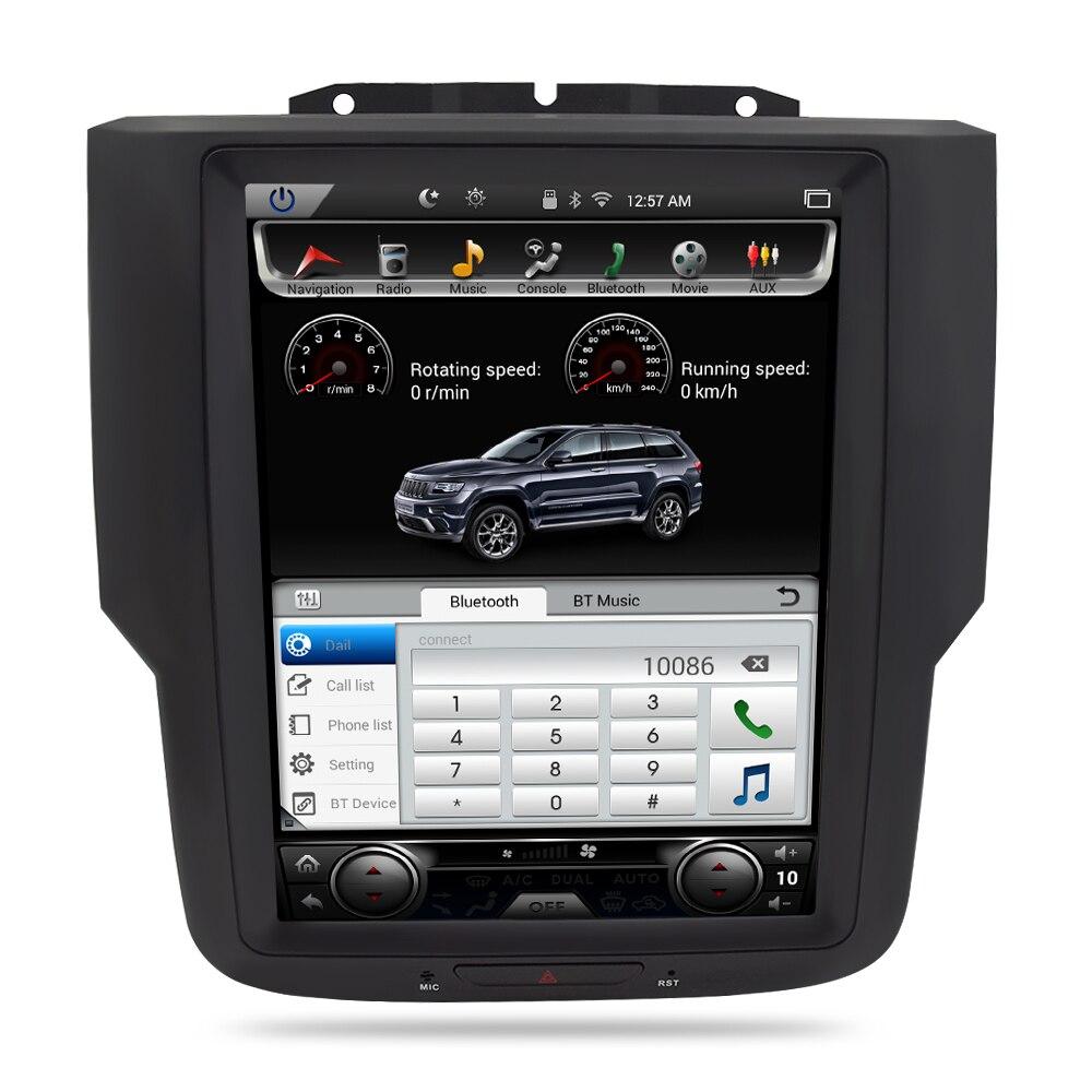 Écran Vertical Android 7.1 autoradio Navigation GPS lecteur multimédia Headunit pour Dodge Ram 2014 2015 2016 2017 Auto stéréo - 2