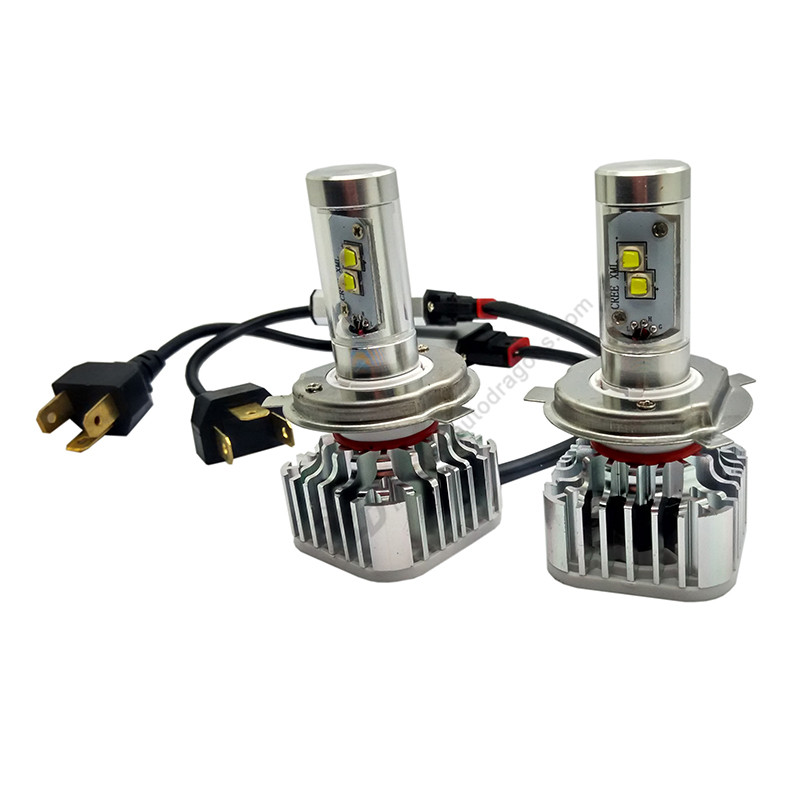 Para Buick Sail/GL8 04 para Honda CRV 05 H4 HI LO Bombillas de faros LED cr-xml 80W 8000LM 12-24V Kits de conversión de faros de coche