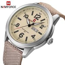 NAVIFORCE Элитный бренд для мужчин s модные спортивные часы для мужчин кварцевые Дата часы нейлоновый ремешок водонепроница…