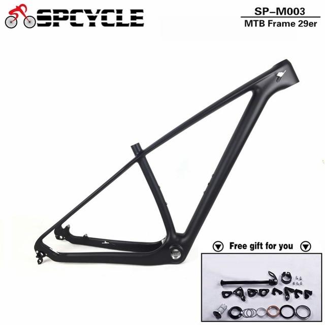 ac1cb102f4e Spcycle 2019 New T1000 Full Carbon Mountain Bike Frame 27.5er 29er Carbon  MTB Frames 650B 142*12mm Thru Axle Bicycle Frameset