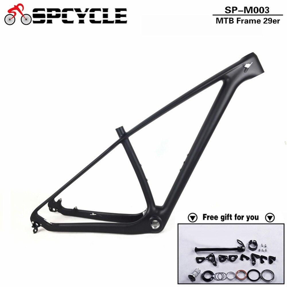 Spcycle 2019 New T1000 Full Carbon Mountain Bike Frame 27.5er 29er Carbon MTB Frames 650B 142*12mm Thru Axle Bicycle Frameset