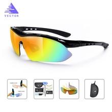 VECTOR Polarized Sports Sunglasses Men Women Road Cycling Glasses Bike Bicycle Riding Mountain  Hiking Goggles Eyewear 5 Lens