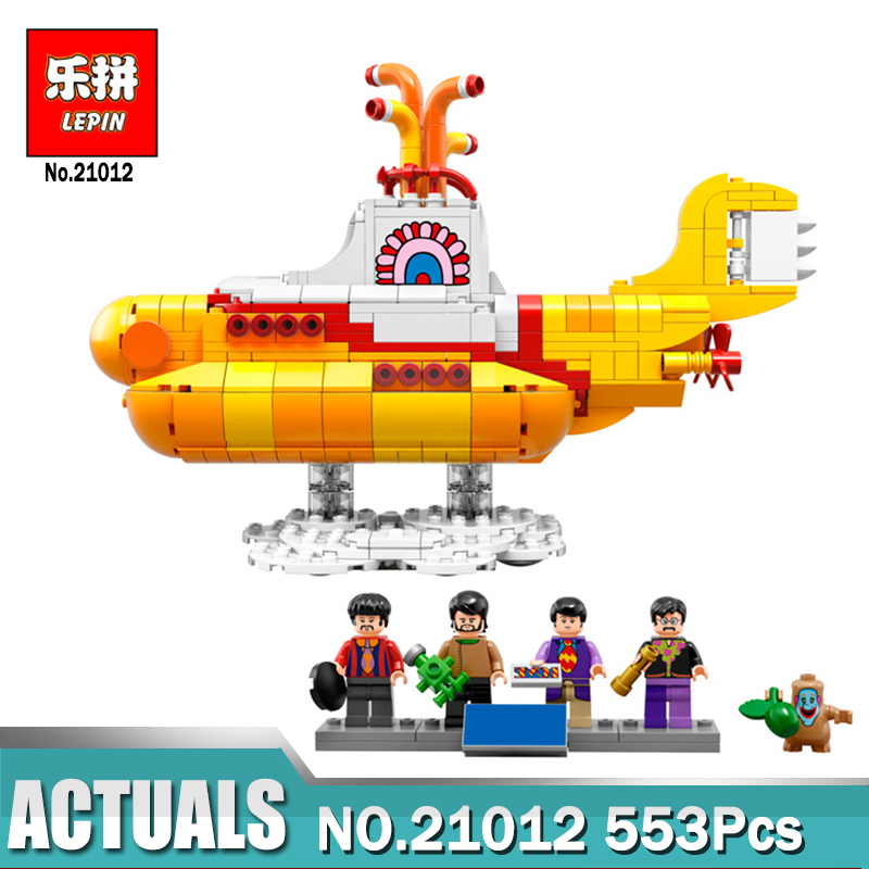 Lepin 21012 The Submarine Car Model Building Blocks Bricks Kits Kids Toys for children Compatible with Legoing 21306 12 style one piece diamond building blocks going merry thousand sunny nine snakes submarine model toys diy mini bricks gifts