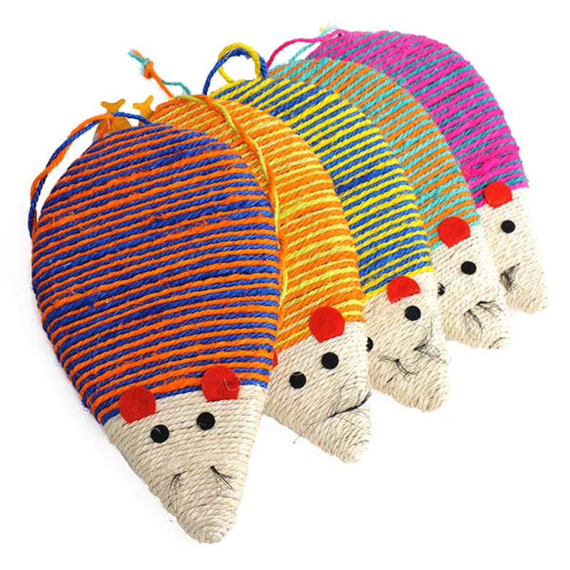 Mouse Shape Grinding Deck Sisal Tablet Mouse Cat Toy Scratching Plate Sisal Safe and tasteless Pet Toy
