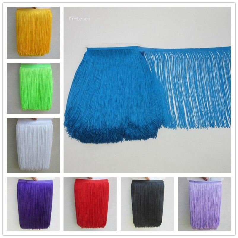 1 Yard/lot 30CM Long Polyester Fringe Trim African Tassel Ribbon Lace Accessory Sew Latin Dress Garment Curtain DIY Accessories