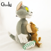 2pcs Set Baby Toys Cat Tom Jerry Mouse Plush Stuffed Toys Dolls Boneca Pelucia Brinquedos Learning