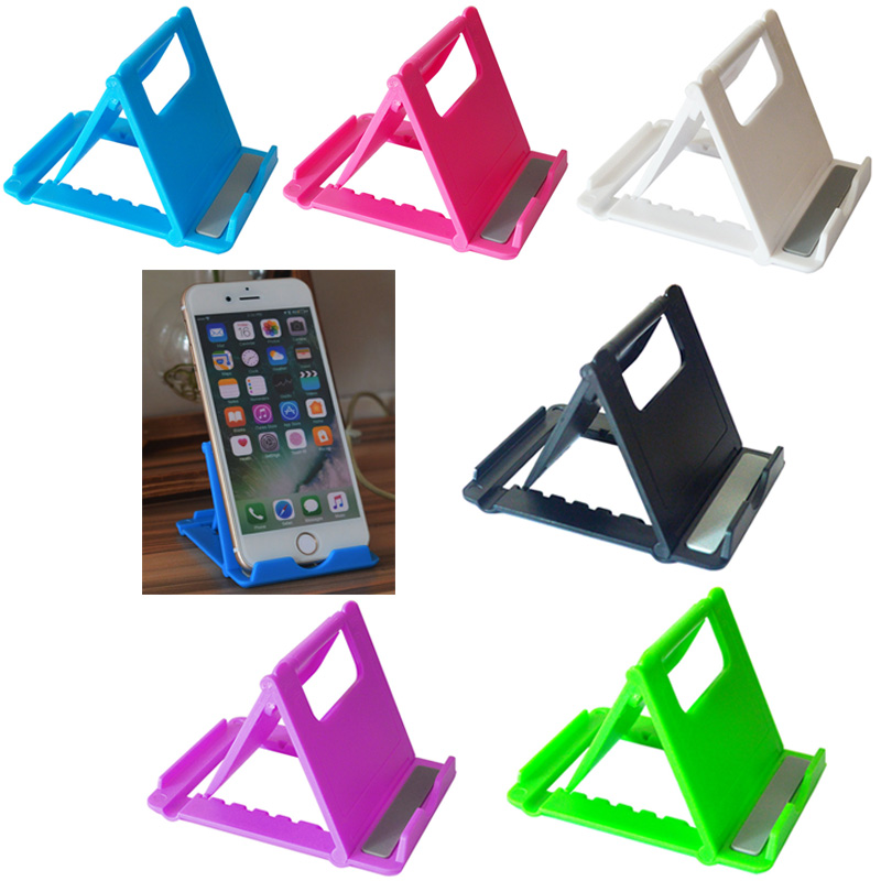 Foldable Tablet Stand Desk Phone Holder Plastic Adjustable Angles Bracket For Iphone Ipad Samsung Huawei Xiaomi Tablets 6 Colors