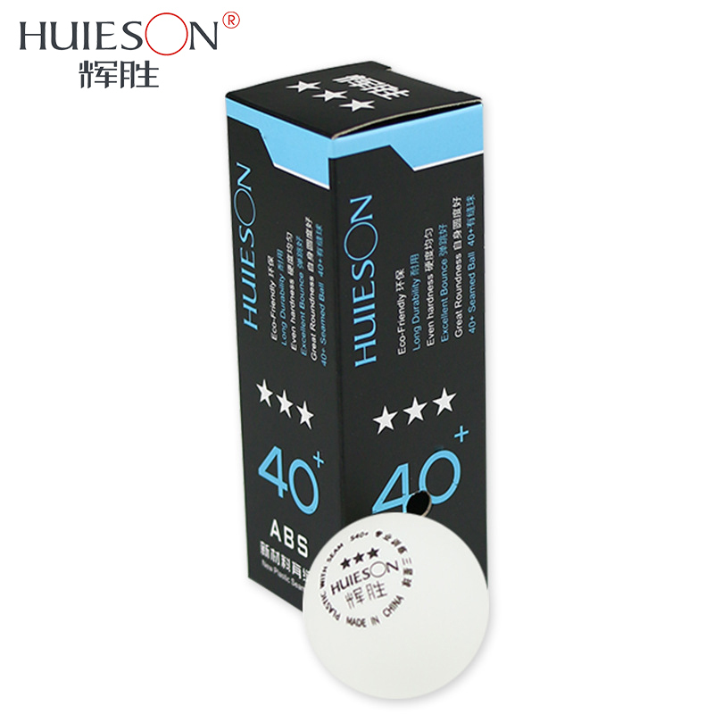 Huieson 3pcs/pack Professional Table Tennis Balls Plastic Ping Pong Ball 40+mm 3 Star New Material Abs Table Tennis Accessories Elegant In Smell