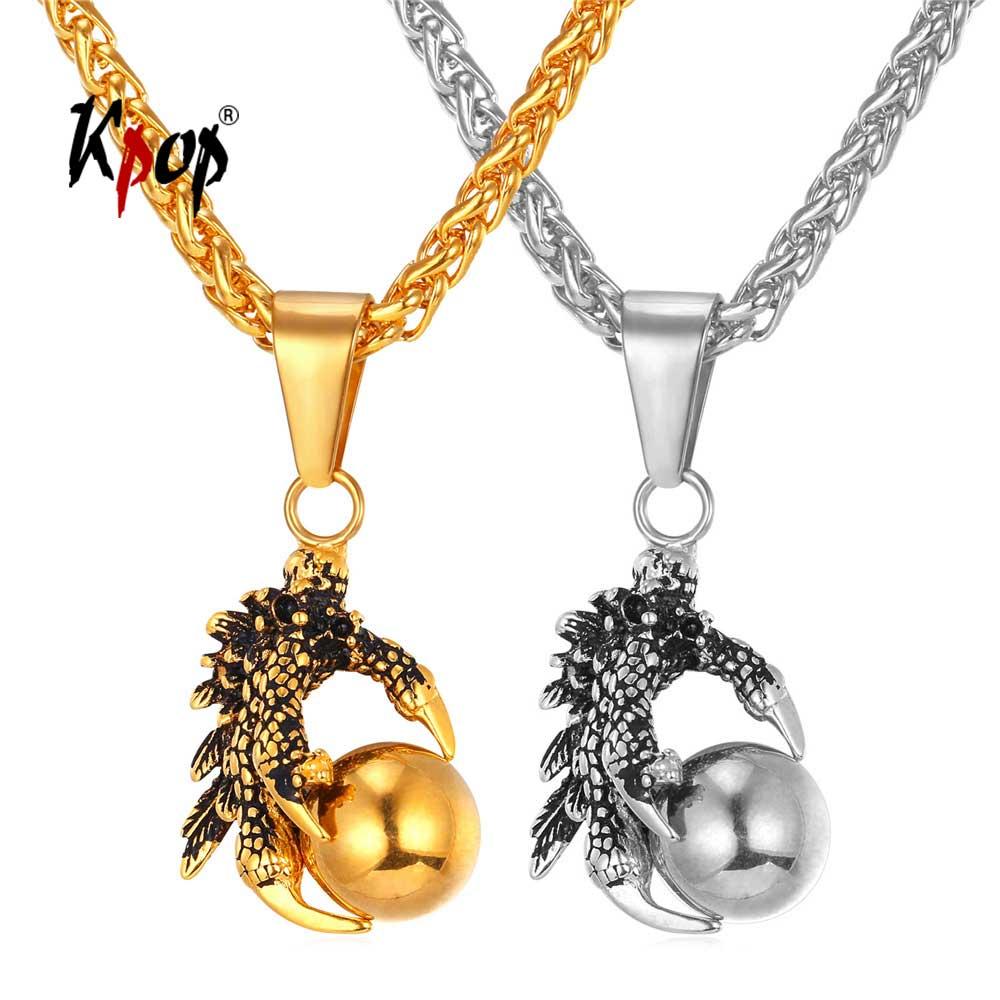 82cce1a858a9 Collar Punk Kpop para hombre joyería satánica oculta de acero inoxidable  Color oro Myth malvado ...