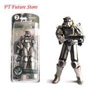 """Duas cores fallout 4 figura de ação pvc 8 """"armadura de energia fora da roupa brinquedos presentes coleções exibe brinquedos para fãs criança"""