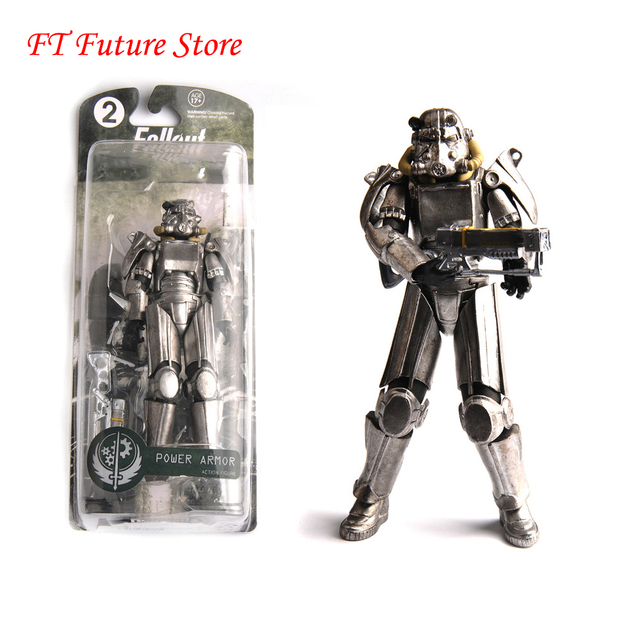 "Two Colors Fallout 4 PVC Action Figure 8"" Power Armor Out of Clothing Toys Gifts Collections Displays Brinquedos for Fans Kid"