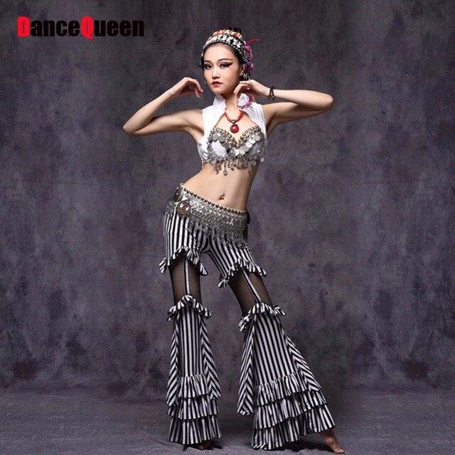 2018 nueva ATS damas mujeres Belly Dance pantalones Tops traje cintura  muslo Cordón de la tela 5fb2e8bb6284